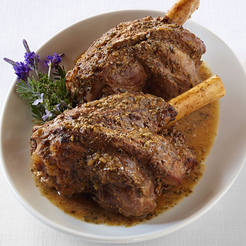 Lamb Shank with Pomegranate Fig Sauce